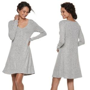 SO Soft Cozy Long Sleeve Swing Dress